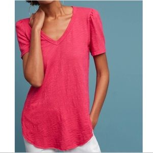 Anthro Left of Center Outfield V-Neck Tee